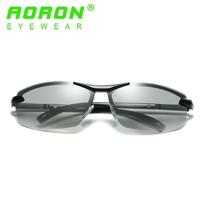 23c60593d6 AORON Brand Photochromic Polarized Sunglasses Men Driving Anti Glare  Goggles HD discolour Lens Sun Glasses Eyeglasses A289-11
