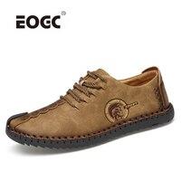 Разделение кожа Для мужчин повседневная обувь кроссовки, Классический Удобная мужская обувь, качество открытый Лоферы Для мужчин Мужская о...