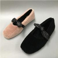 2019 new fashion wild shallow mouth bow beautiful partner non slip shoes