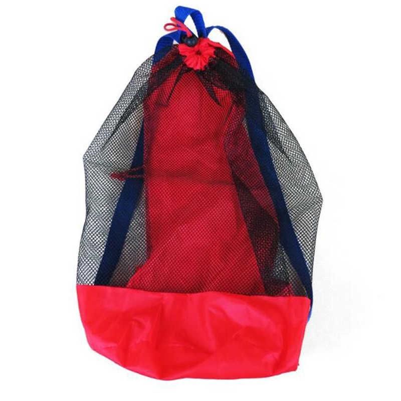 Draagbare Baby Zee Opslag Mesh Zakken Voor Kinderen Kids Strand Zand Speelgoed Netto Zak Water Fun Sport Badkamer Kleding Handdoeken rugzakken