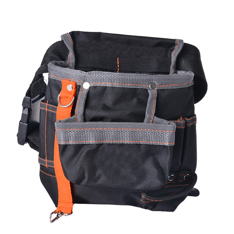 Urijk High Quality  Electrician Storage Tools Waist Belt bags Hardware Electrical Tool Bags Grey Edge Cloth packet