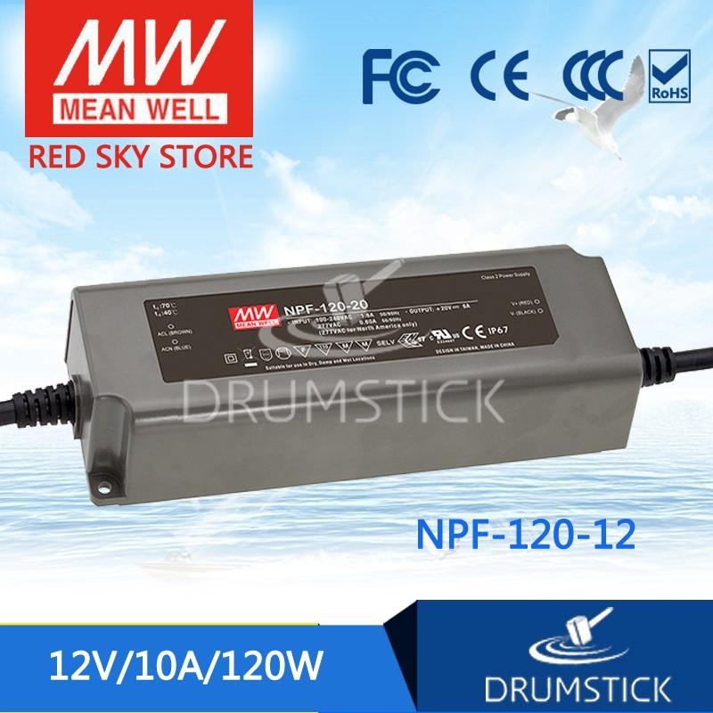 Genuine MEAN WELL NPF-120-12 12V 10A meanwell NPF-120 12V 120W Single Output LED Switching Power Supply минипечь gefest пгэ 120 пгэ 120