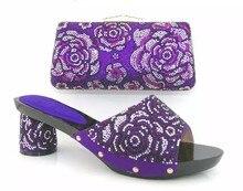 African Schuh Und Tasche Set Hohe Ferse Italienischen Schuh Mit Passender Tasche Für Frauen Party Strass Sandale Pumps TH06