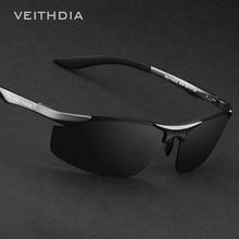 VEITHDIA Brand Designer Rimless Mens Aluminum Sunglasses Polarized Lens Male Sun Glasses oculos de sol masculino For Men 6529
