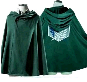 Halloween Costumes Cosplay Clothes Attack on Titan Cloak Eren Mikasa Anime Cape Green Giants Unisex Clothing Daily Cloak