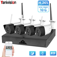 CCTV System Wireless Camera Home Security 1080P HD H.265 Outdoor Waterproof Wifi IP Cam NVR P2P Video Surveillance Kit