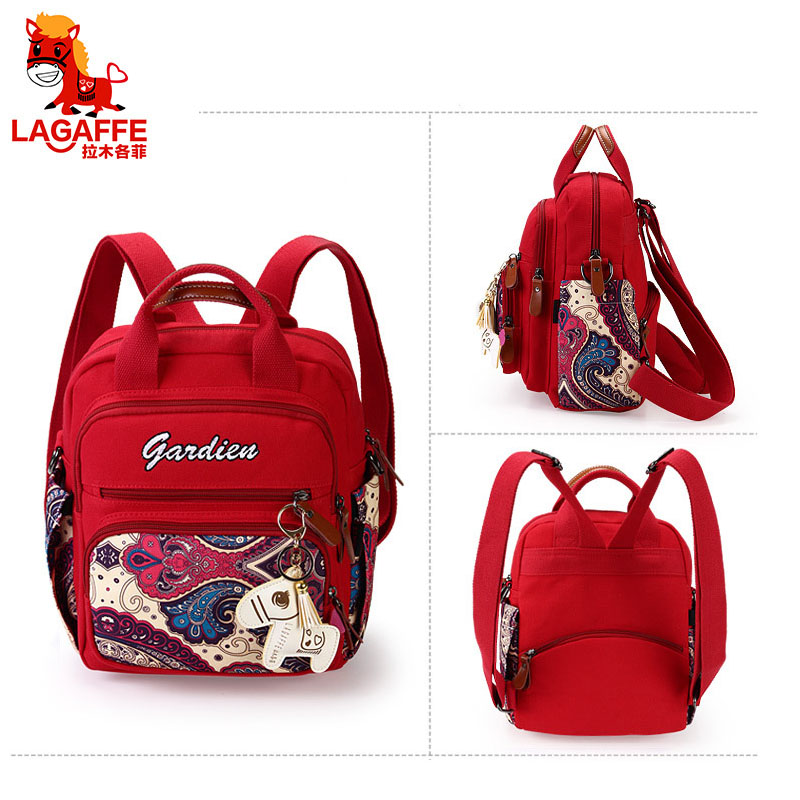 LAGAFFE Baby Diaper Bag Backpack for Mom Stroller Nappy Changing Mommy Maternity Mother Organizer Wet Travel Bags