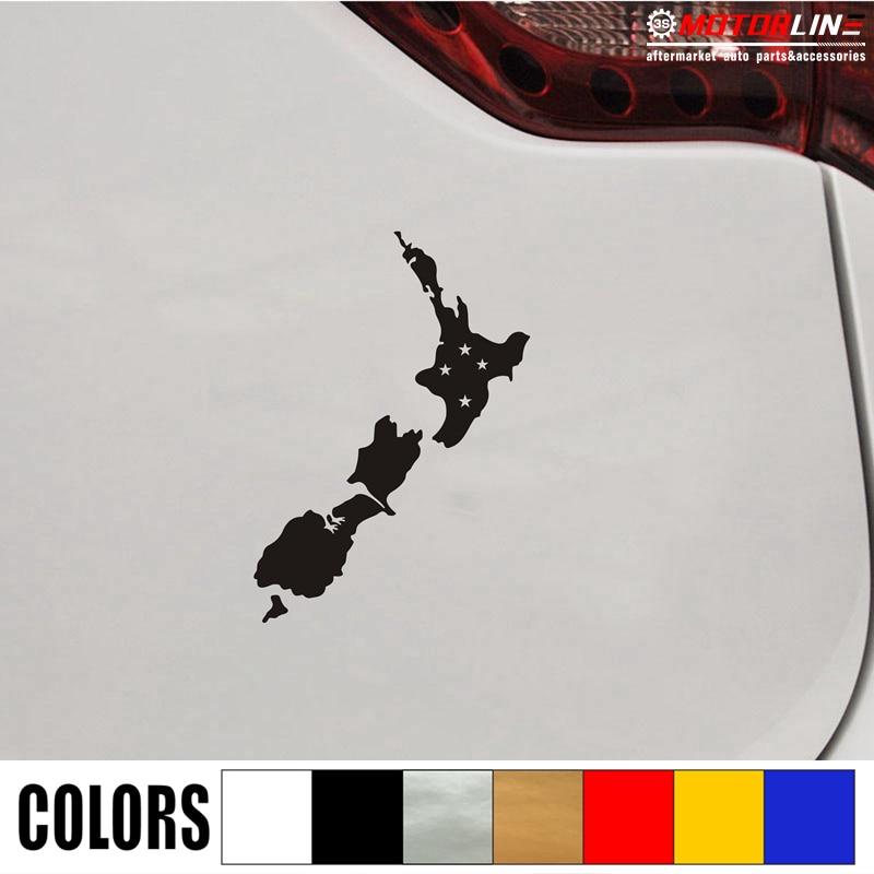 New Zealand Map Kiwi Bird Decal Sticker Car Vinyl pick size color no bkgrd