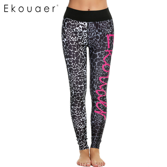 Ekouaer Sexy Pants Fitness Leggings Women's Workout Trousers Quick-dry New Fashion pencil Pants Slim fit Leggings