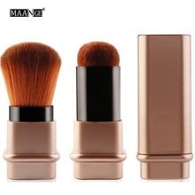 Protable 1Pcs Retractable Brush Small Telescopic Brush Cosmetic Face Blusher Adjustable Powder Foundation Blush Brush for Travel