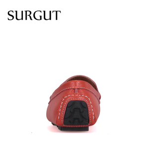 Image 4 - SURGUT Brand New Colors Cow Split Leather Men Flat Shoes Brand Moccasins Men Loafers Driving Shoes Fashion Casual Shoes Hot Sell
