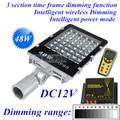 48 W luzes de rua led com Escurecimento Inteligente Sem Fio controlador DC12V IP65 para a energia solar sistema de iluminação de rua de energia solar