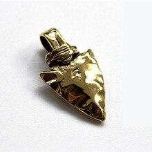 Brass Indian Knife Beads Pendant EDC Multi Tools Lanyard Solid Zipper Parachute Cord Bead