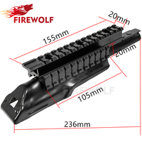Hunting Shooting Rifle Accessories Tactical Stealth Black Receiver Cover AK AK47 Tri Rail Weaver Picatinny Scope