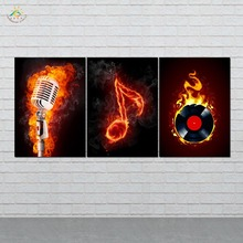 Wall Art HD Prints Canvas Art Painting Modular Picture And Vintag Poster Music Notes Canvas Painting Home Decor 3 PIECES frameless dancing girl oil painting butterfly wall poster canvas art hd modular picture home decor 3 pieces
