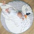 KAMIMI manta Estera Del Juego Del Bebé 2017 nuevo Cisne Cisne impreso del lecho del bebé Manta de Los Niños Decoración de La Habitación infantil estera de Arrastre
