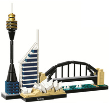 Architecture City Series (361 pieces)  Sydney Skyline Building Block Model  Sets Brick Classic Kids Toys Gifts world famous history cultural architecture building block moscow kremlin russia model brick educational toys collection for gift