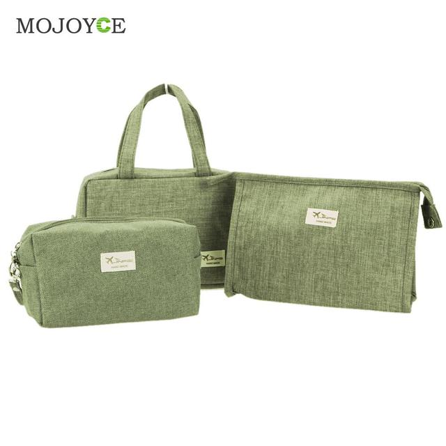 3pcs Makeup Bag Cosmetic Bag Travel Case Toiletry Storage makeup Organizer Handbag Abrasive Cloth Makeup Case make up bag