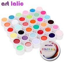 Artlalic 36 색상 UV 젤 세트 순수 커버 컬러 장식 네일 아트 팁 확장 매니큐어 DIY 도구