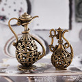5PCS Alloy Miniature Kettle Copper Tea Kettle DIY Accessory Charm Pendants Hollow Kettle Pattern