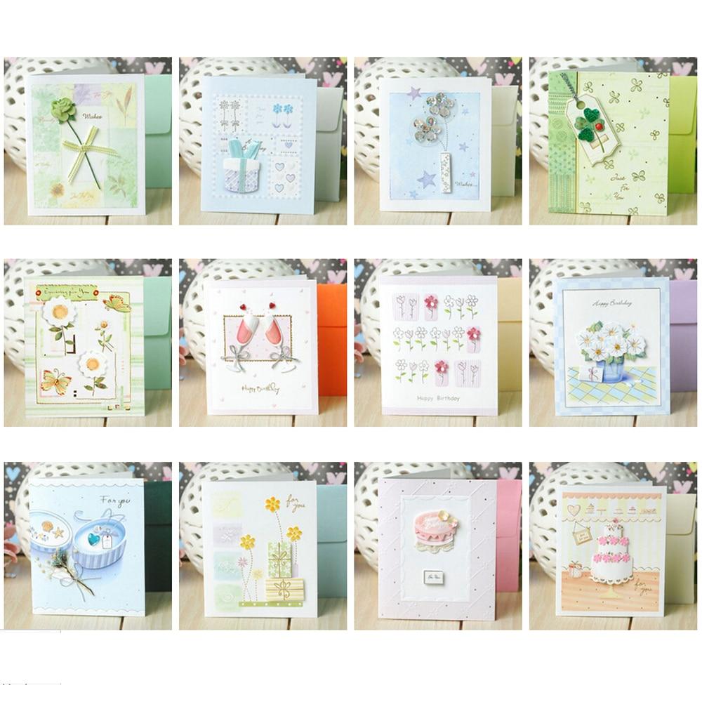 Aliexpress Com Buy Home Utility Gift Birthday Gift: Elegant Paper Flower Mini Birthday Greeting Cards,Multi