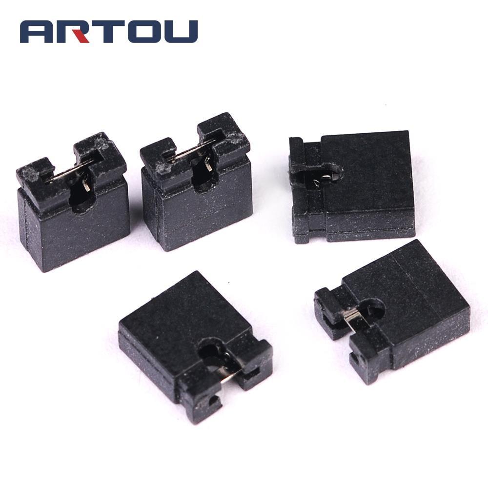200PCS 2.54mm Standard Circuit Board Jumper Cap Shunts Short Circuit Cap New