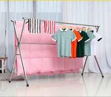 Stainless steel landing folding drying rack double racks were balcony indoor clothes retractable airedales