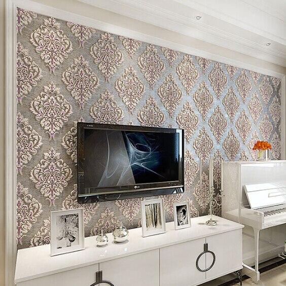 Stile europeo carta da parati 3d tridimensionale parete di for Carta da parati per soggiorno moderno