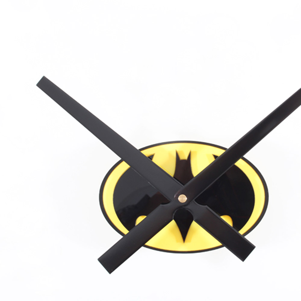 Modern Design Modern Design Animation Wall Clock Fashion Bat Pattern Clock 3D DIY Living Room Decoration Clock Unique Boys Gifs