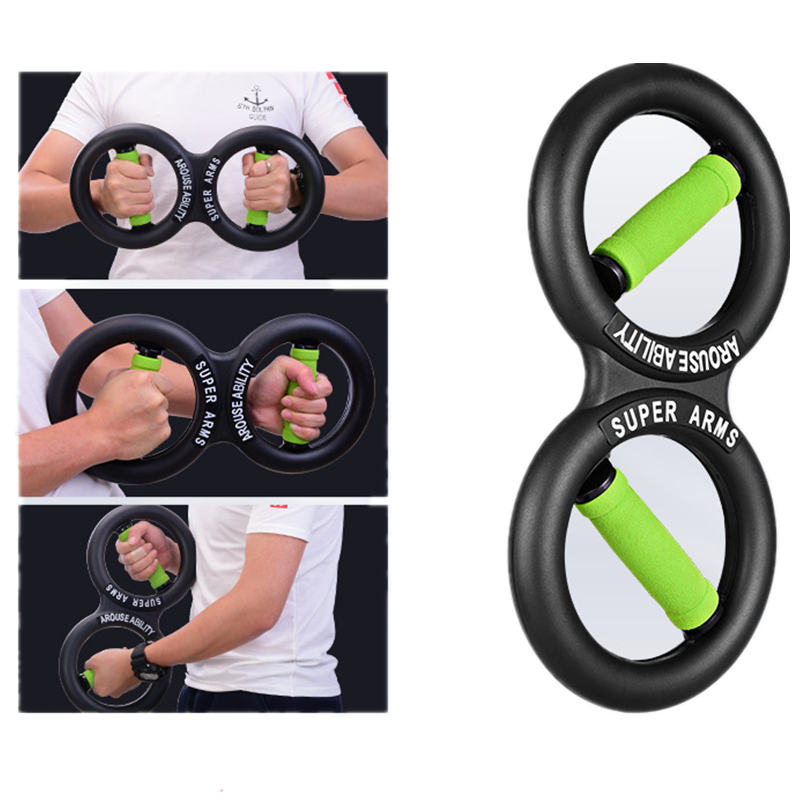 8 Shape Hand Gripper Strength Trainer 10-20kg Multifunction Forearm Strength Force Fitness Springs Gym Power Wrist Arm Exerciser image
