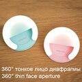 El mejor regalo de clip-on led anillo de luz selfie luz suplementaria para el iphone samsung xiaomi meizu teléfono inteligente andriod tablet pc