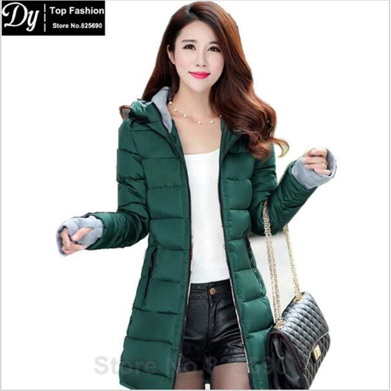 New Parkas Womenu0026#39;s Winter Jacket Women Cotton Jackets Hooded Winter Jacket Women Fashion Girls ...