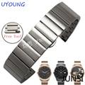 Qualidade sólida pulseira de aço inoxidável para samsung gear s2 smart watch strap para mens watch band moto 360 modelos femininos