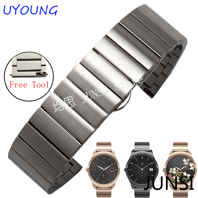 Quality Solid stainless steel Watchband For Samsung Gear S2 Smart watch strap For Mens watch band moto 360 Female models new arrival solid stainless steel watchband 22mm 24mm luxury fine steel watch strap for mens