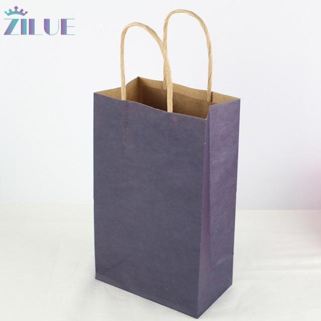 63ebabf119 Zilue 50 unids lote tamaño 21x13x8 cm papel regalo bolsas compras azul  marino bolsa de