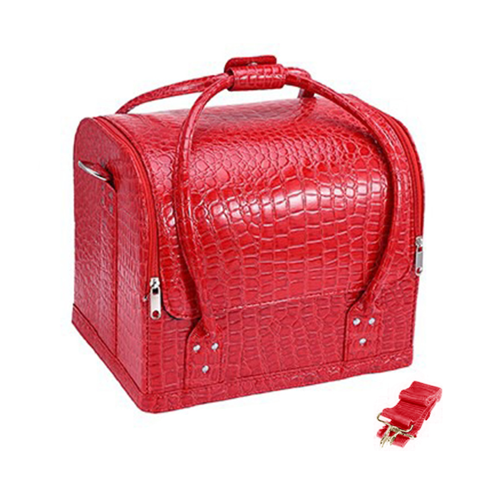 Fashion PU Leather New Professional Travel Cosmetic Case Makeup Bag