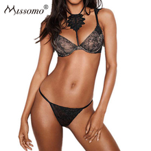 Missomo Silk Lace See Through Bras For Women Sexy VS BH Bralet Modis Push Up Bralette Plus Size Cup Nude Brassiere Lingerie Top