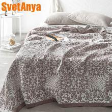 Svetanya Марлевое Хлопковое полотенце одеяло жаккардовое тонкое одеяло