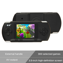 New Arrive Coolboy RS-2A Handheld Game Players 2.5″ Video Game console for kids 300 Classical Game Support External handle