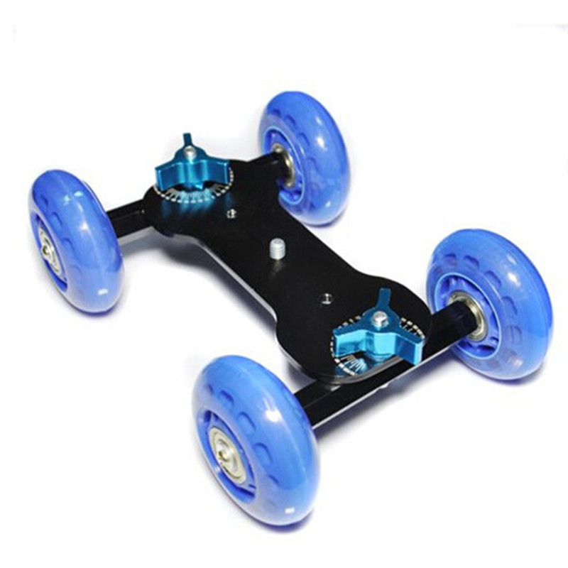 Mini Desktop Camera Rail Car Table Dolly Skater (3)