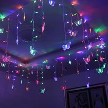 Светодиодный светильник-бабочка, светодиодный светильник, ночник, водонепроницаемый, занавеска, праздничные лампы, Рождественская, Новогодняя гирлянда, Свадебный, домашний декор, светильник ing@ 30