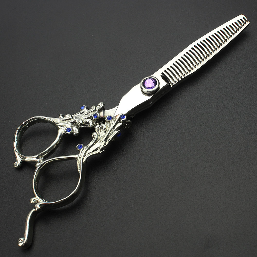 ФОТО Professional 6 Inches Salon Barber Personal Hair Styling Tool Stainless Steel Shaped Scissors Hairdressing