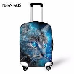 INSTANTARTS дорожные аксессуары милые 3D Galaxy Cat Отпечатано Чемодан Защитите Чехлы для 18-30 дюймов чемодан утолщаются дождь крышка