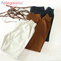 Special Offer Aelegantmis High Quality 100% Cotton High Waist Harem Pants Women Spring Casual Overalls Pants Female 2017 New