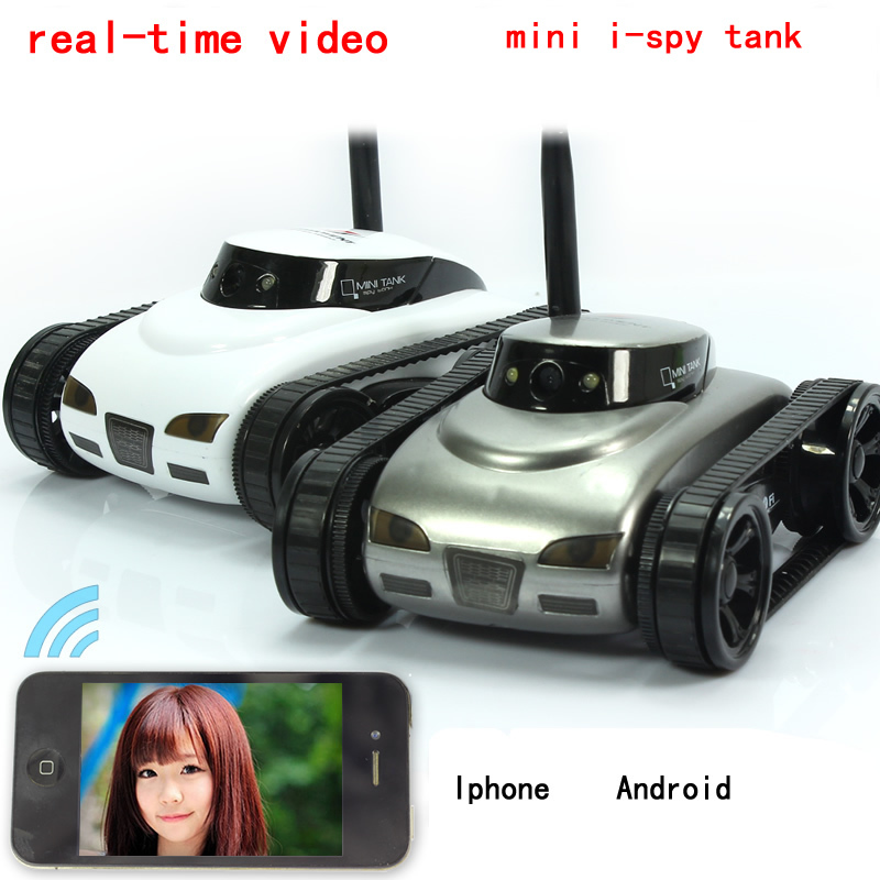 Control the tank and review the realtime video through WiFi AP.