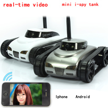 Free Shipping!777-270 WiFi i-spy Tank Car Toy W/ Camera Remote Control&Video By IOS phone or Android   FSWB happycow 777 270 wifi mini rc camera tank car ispy with video 0 3mp camera remote control robot car by iphone android app