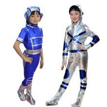 Детская анимация драма робот сценический мультфильм одежда для выступлений дети астронавт космический костюм современные танцевальные костюмы