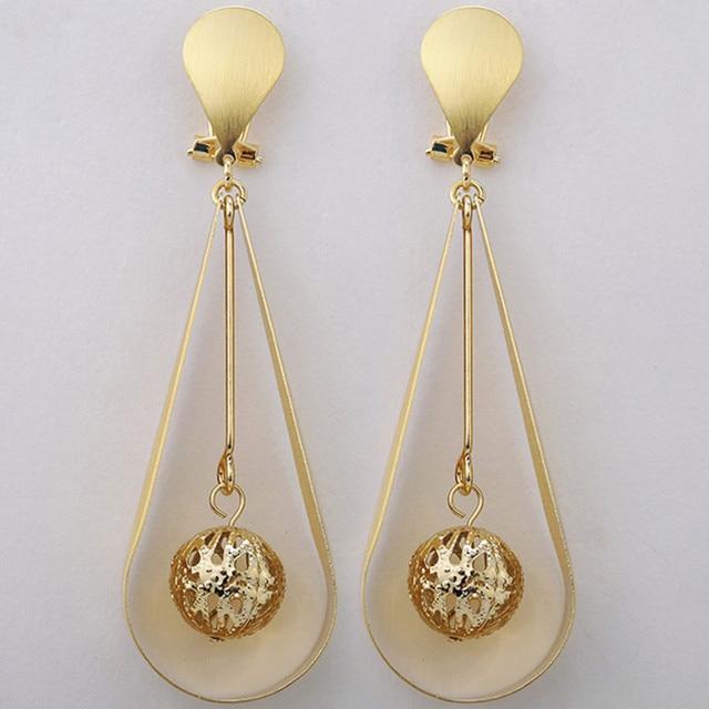 Nigerian Wedding African Beads Jewelry Sets Fashion Dubai Pure gold -color Long Drop Dangle EarringsWholesale Costume Design