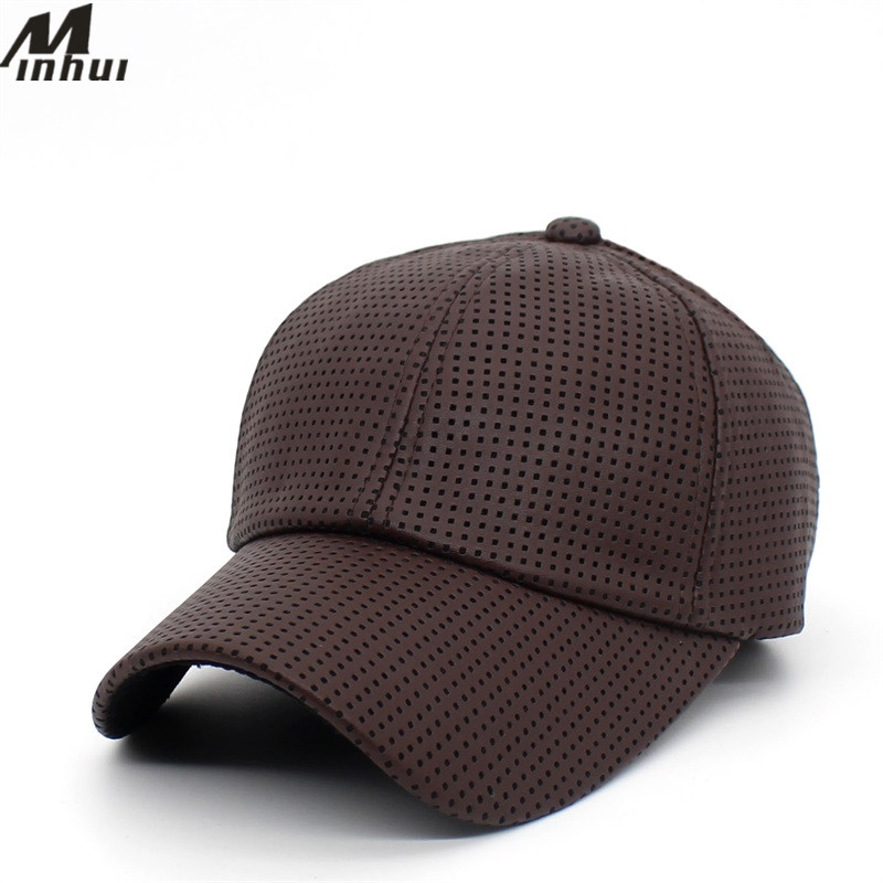 Minhui 2018 New Fashion Plaid Baseball Caps Faux Leather Snapback Hats for Men Women Adjustable Hip Hop Cap Casquette Gorras new unisex fashion high quality cotton baseball cap for men women gorras snapback female hats for women girls adjustable caps