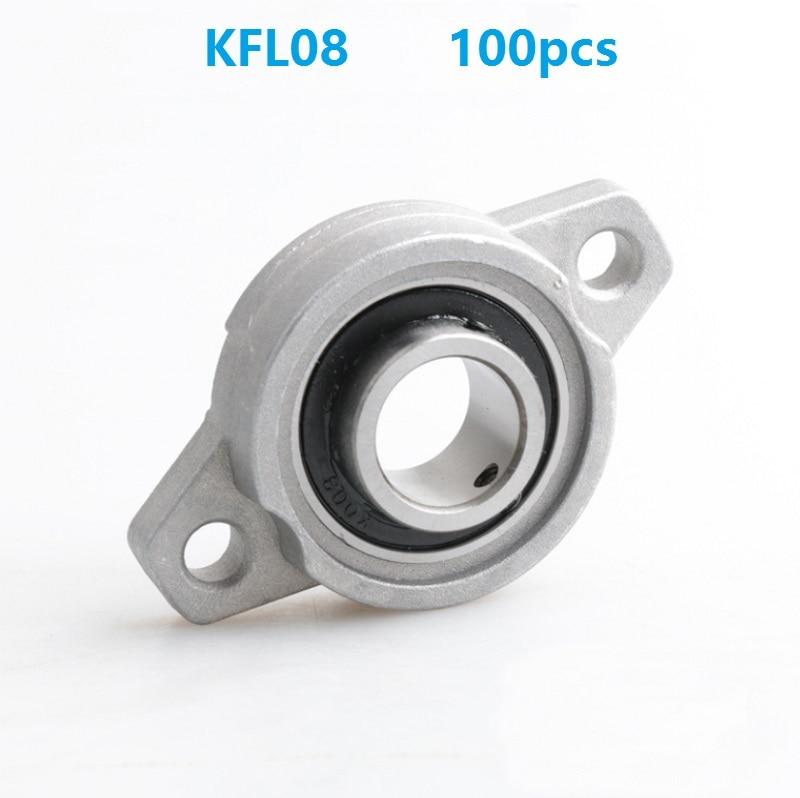 100pcs lot KFL08 8mm zinc alloy bearing bracket FL08 8 mm pillow block bearings flange block